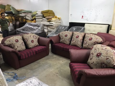 Merveilleux 4) Refurbished Sofa Set ( 1+2+3 Seater )